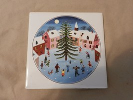 Kids Around the Christmas Tree Ceramic Tile by ... - $24.74