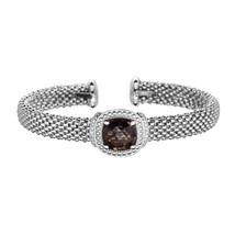 Phillip Gavriel Sterling Silver Smokey Quartz Cuff Bracelet - $499.99