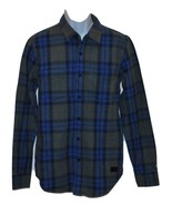 Airlift Men's Plaid Flannel Shirt Navy by Lrg Wovens (Choose Size) - $31.35