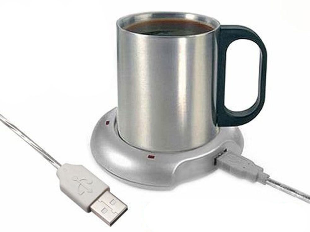 USB Warmer Heater Cup Tea Coffee Hub Port 4 Mug Pad Portable Electric Tray