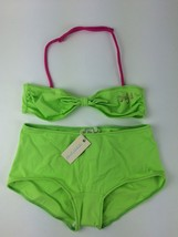 Diesel Kids Girls' Masity Bikini Top and Bottom 00J0F2 Size 6Y Color Green - $17.20