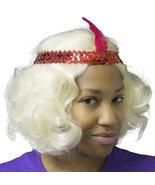 Roaring 20's Flirty Flapper Blonde Wig with Flapper Headband - $23.96