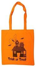 Haunted House 14 Inch Safety Orange Canvas/Nylon Trick or Treat Bag - $143,61 MXN
