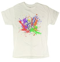 "Men's ""Art Is Life"" Positive Motivational T-Shirt (2X-Large, White) - $12.43"