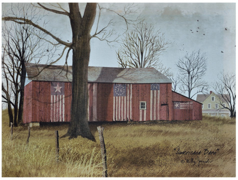 Americana Barn Canvas - by Billy Jacobs - Canvas - Decor