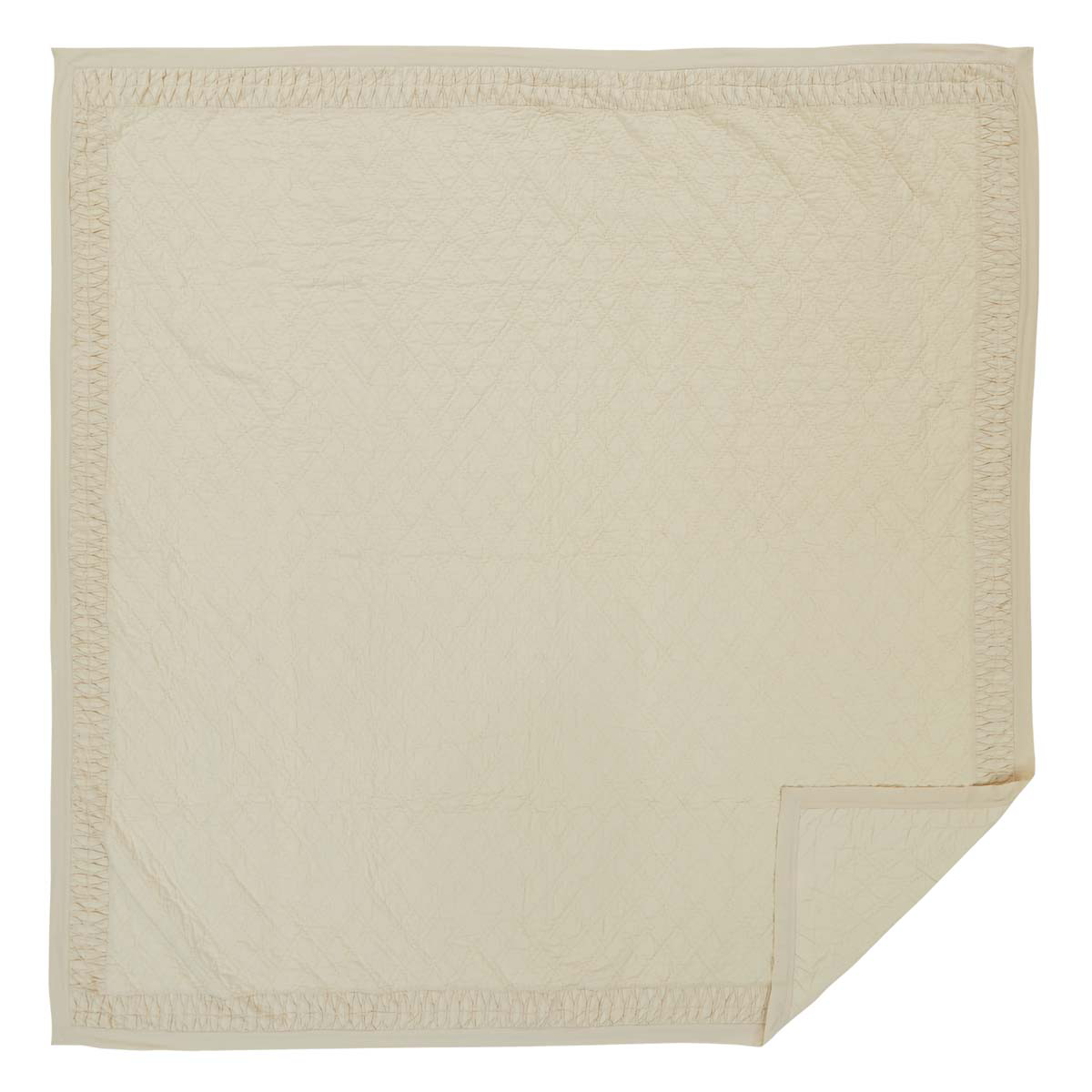 Adelia - Creme - California King - Whole-cloth Patchwork Quilt - Ashton & Willow