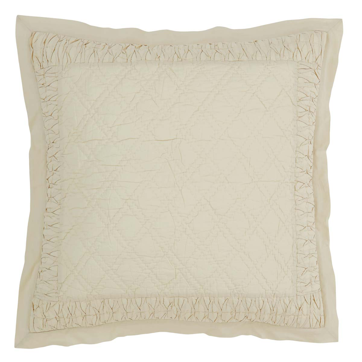 "Adelia - Creme - Quilted 26"" Euro Sham"