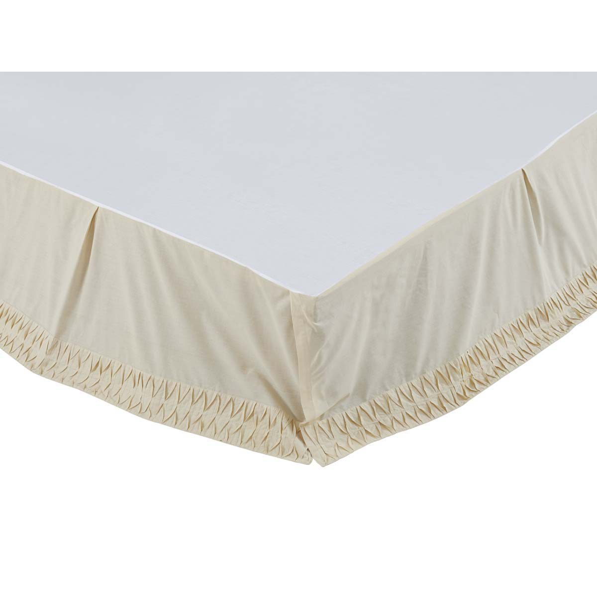 Adelia - Creme - Soft Cotton - Bed Skirt