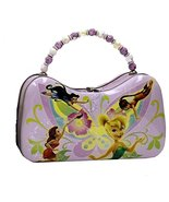 Disney Fairies Tinkerbell and Friends Scoop Purse Tin With Beaded Handle - $10.77