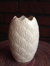 "Vintage Lenox Porcelain Jacquard Collection Small Vase - 6 3/4"" - $16.50"