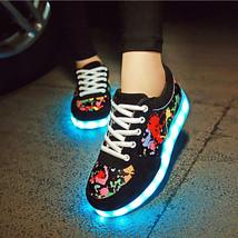 Graffiti Luminous Sport Shoes USB Charging Light Lace Up LED Fashion Sne... - $22.94+