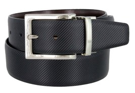 "Men's Reversible Genuine Leather Dress Casual Belt 1-3/8"" = 35mm wide - Black... - $13.81"