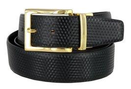"Men's Reversible Genuine Leather Dress Casual Belt 1-3/8"" = 35mm wide - Black... - $13.81"
