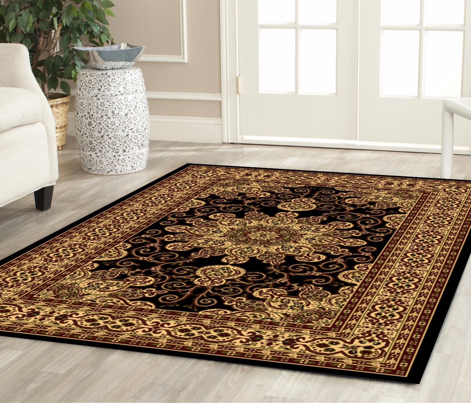 Traditional area rug living room kitchen floorin carpet for Traditional kitchen rugs
