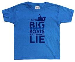 Unisex-Big Kids 4-20 I Like Big Boats and I Cannot Lie Youth T-Shirt (X-Small... - $12.43