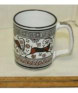 Pottery Mug Cup No 138 Rhodis Motif Antilope Hand Made Greece D Vassilop... - $15.00
