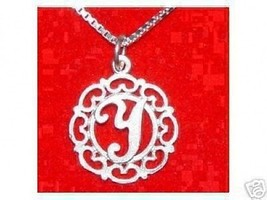 COOL New Filigree 925 Sterling Silver Pendant Charm Initial alphabet wor... - $19.78