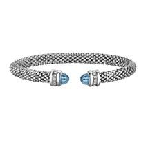 Phillip Gavriel Blue Topaz Popcorn Cuff Bracelet - $499.99