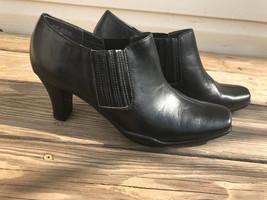 "Aerosoles Black Leather 2"" Heels Shoes Pumps Wo... - $37.62"