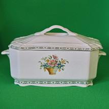 Large Vintage La Cartuja De Sevilla (Spain) Porcelain Lidded Vegetable T... - $5.95
