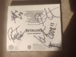 Metallica- Death Magnetic cd signed by entire band - $95.00
