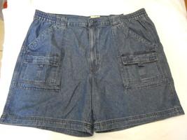 Men's St. John's Bay Hiking Shorts Dark Blue Denim Size 44 NEW  - $28.70