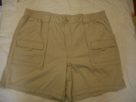 Men's St. John's Bay Hiking Shorts Classic Stone Size 44 NEW  - $28.70