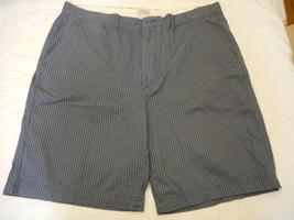 Men's St. John's Bay Printed Flat Front Shorts Vintage Indigo Stri  Size... - $28.70