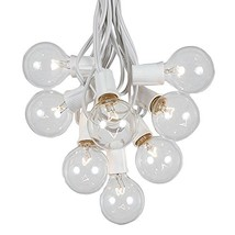 G50 Patio String Lights with 125 Clear Globe Bulbs – Wedding Outdoor Str... - $91.16