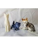 Kitty Cat Lot 3 Belleek Holland Andrea Sadek Cute Kitten Porcelain Ceramic - $46.50