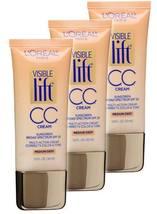 (3-Pack) L'Oreal Paris Visible Lift CC Cream, Medium/Deep 181, 1.0 Ounces - $38.94