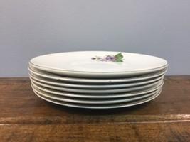 Vintage Set 7 Saucers KNOWLES Wood Violet 6 1/4... - $20.79