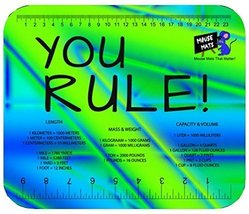 """Mouse Mats """"You Rule"""" Ruler And Measurements Sublimated Mouse Pad (Army) - $4.79"""