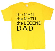 Men's The Man The Myth The Legend Grandpa Father's Day T-Shirt (XX-Large, Gold) - $12.43