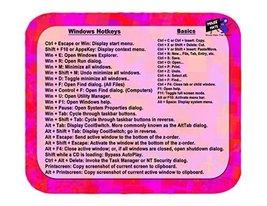 Mouse Mats Windows Hotkey/ Keyboard Shortcut Cheat Sheet Sublimated Mous... - $3.84