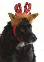 Christmas Costume Accessory for pet- Glitter Reindeer Dog hat - $7.64