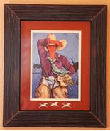 "Doreman Burns Cowgirl Print Signed Matted Framed 16"" x 20"" - $155.00"