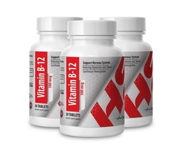 Vitamin B-12 500mcg  (3 Bottles) - $25.19