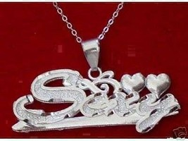 COOL New Sexy word name Charm Love heart for Diva / Vixen 925 Sterling s... - $24.73