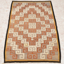 """Old Pawn KLAGETOH Wool Rug Vintage Mid Century 1950s Hand Woven 47.5"""" x ... - $1,175.00"""