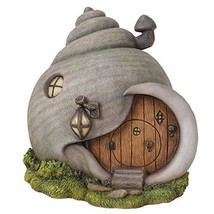 Miniature Fairy Garden Enchantment Gastropod Snail Shell Fairy Cottage F... - $29.99