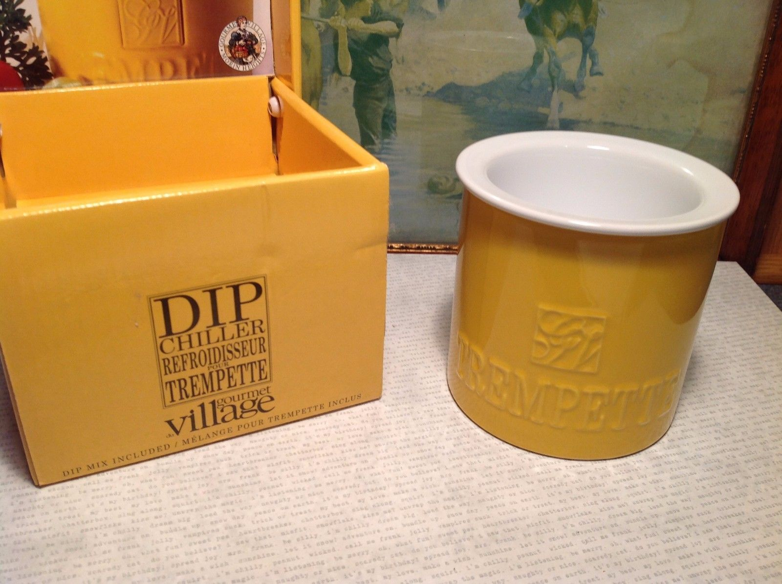 NEW Gourmet Village Yellow Bistro Trempette Dip Chiller