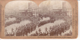 1898 Antique Stereoview-1st NY Volunteers at SF Manila-Keystone View Co-... - $12.19