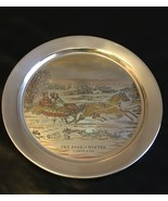 Danbury Mint Sterling Silver 1972 Currier & Ives The Road Winter Christmas - $174.95