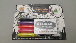 Stained by Sharpie Brush-Tip Fabric Markers 5pk... - $6.88