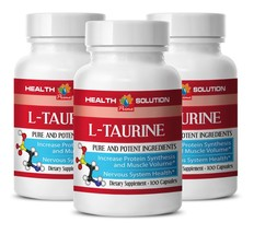 L-TAURINE 500mg lower Cholesterol Heart Health Vision Health 3 Bottles - $28.94