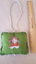 Hand embroidered baby girl nursery door hanger ... - $10.00