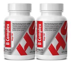 Mega B Complex 100. Boosts functioning immune system  (2 Bottles, 60 Tab... - $18.60