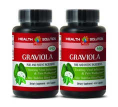 Graviola Soursop - GRAVIOLA EXTRACT 650 - Graviola Supplement 2 Bottles - $22.40