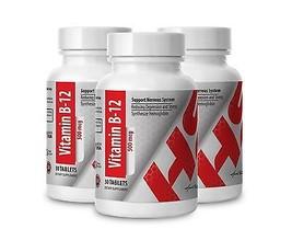 Vitamin B-12 500mcg. Reducing depression & stress  (3 Bottles, 90 Tablets) - $25.19
